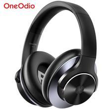 Oneodio a10 anc bluetooth 5.0 fone de ouvido sem fio sobre a orelha de cancelamento ruído ativo fones com microfone carga rápida