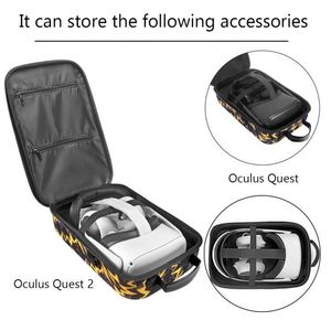 Image 2 - New Hot EVA Protect Waterproof Case for Oculus Quest/Quest 2 VR Glasses Gaming Headset and Accessories Travel Carrying Case Bag