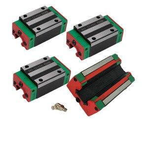 Image 4 - 4pc HGH20CA HGH15CA 선형 좁은 캐리지 슬라이딩 매치 사용 HIWIN HGR20/15 선형 레일 용 선형 가이드 CNC diy 부품