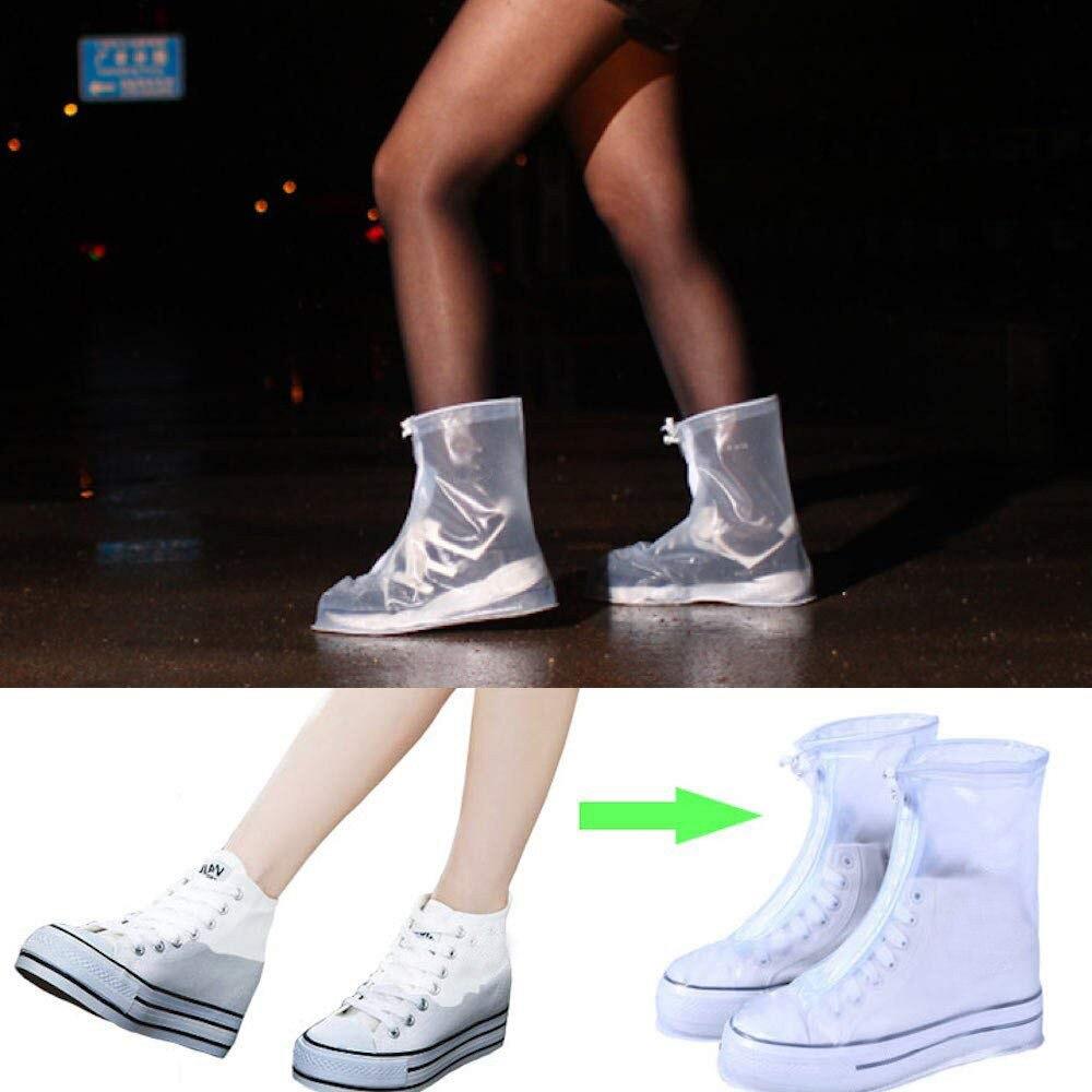 Men Women Kids Outdoor Waterproof Rain Shoe Covers Overshoes BE