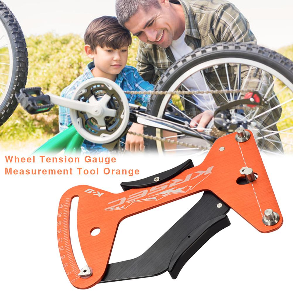 Orange Deckas Bike Indicator Attrezi Meter Tensiometer Bicycle Spoke Tension Wheel Builders Tool Bicycle Spoke Repair Tool