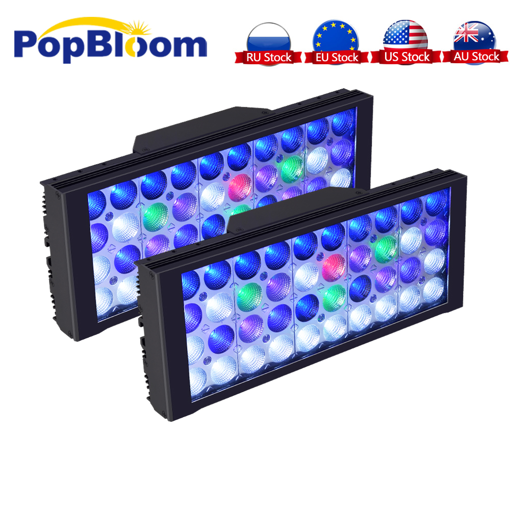 PopBloom Aquarium lampe d'éclairage LED lumière LED d'aquarium Récif lumière LED L'éclairage D'aquarium D'aquarium Marin Turing30
