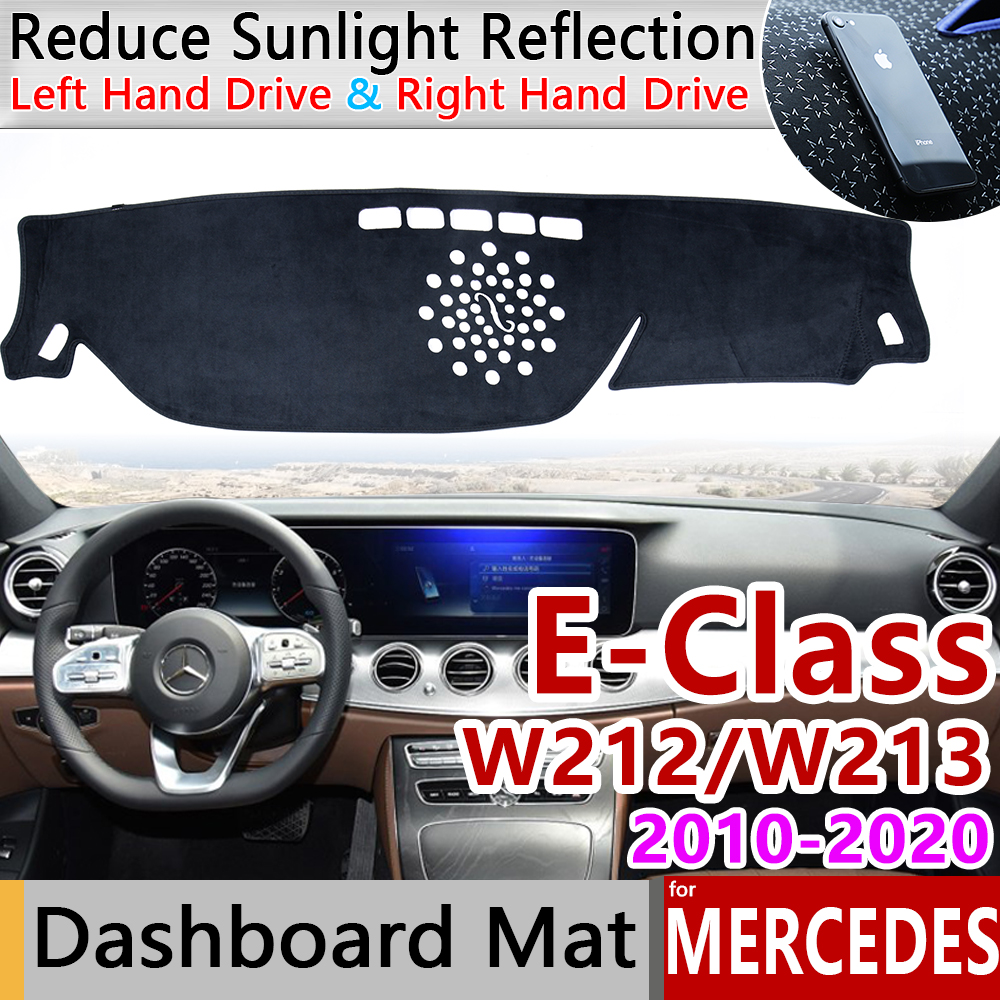 for Mercedes Benz E-Class W212 W213 Anti-Slip Mat Dashboard Cover Pad Sunshade Car Accessories E-Klasse E200 E250 E300 <font><b>E220d</b></font> AMG image