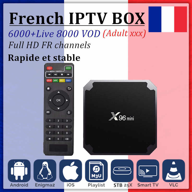 X96 mini Smart TV BOX Android 7.1+French iptv subscription for Europe France Portugal Belgium Spain IPTV M3U android TV box