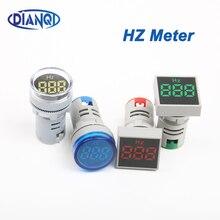 Цифровой дисплей электричество Герц метр частотомер индикатор светильник переменного тока красный комбинированный тестер 0-99 Гц зеленый белый желтый