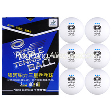 3-Star Ping-Pong-Balls YINHE Table-Tennis-Ball Plastic Seamless White Poly Ittf-Approved