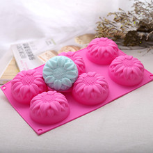 Sunflower Silicone Soap Mold Craft Soap Making Mould DIY Chocolate Candy Cake Molds Handmade Kitchen Accessories цена