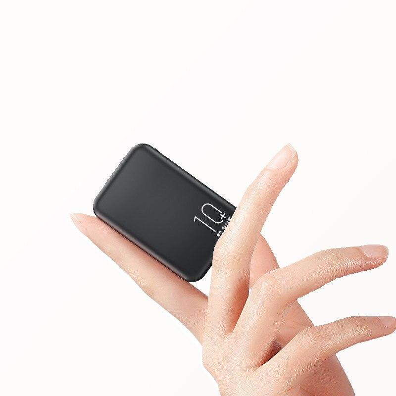 Cep telefonları ve Telekomünikasyon Ürünleri'ten Taşınabil. Güç Kay.'de 20000mAh Mini güç bankası tip c giriş hızlı şarj taraflı ekran taşınabilir şarj çift USB hızlı çıkış 10000mAh Powerbank title=