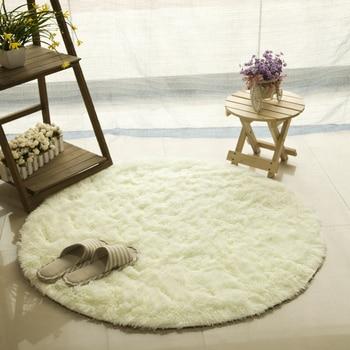 Alfombra redonda antideslizante para dormitorio, cojín para silla de Yoga, tapete para...