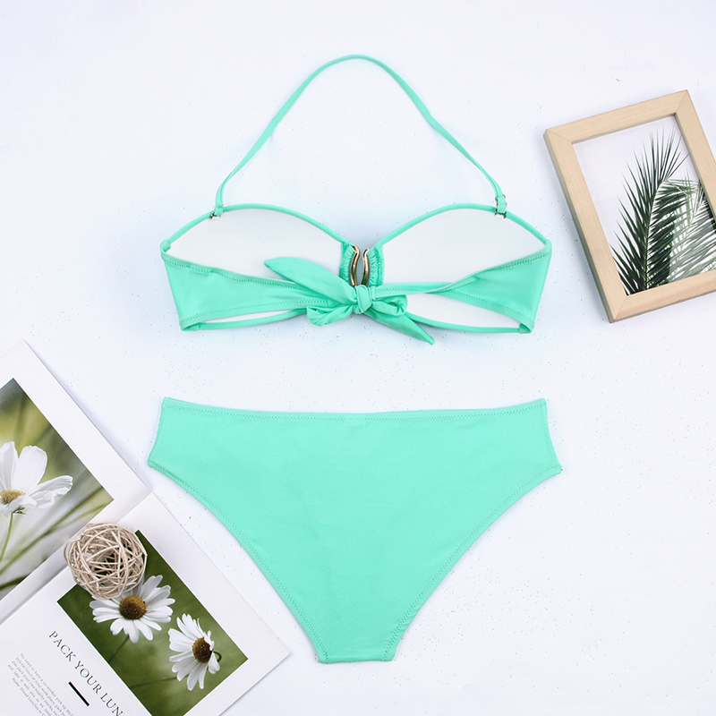 H0e2da2174ec14d35a66d325172b24c1bR - Sexy Bikini Push Up Solid Swimsuit Female Bikinis String Bathing Suit Women Swimwear Bandaeu V Neck Biquini Bikini Set