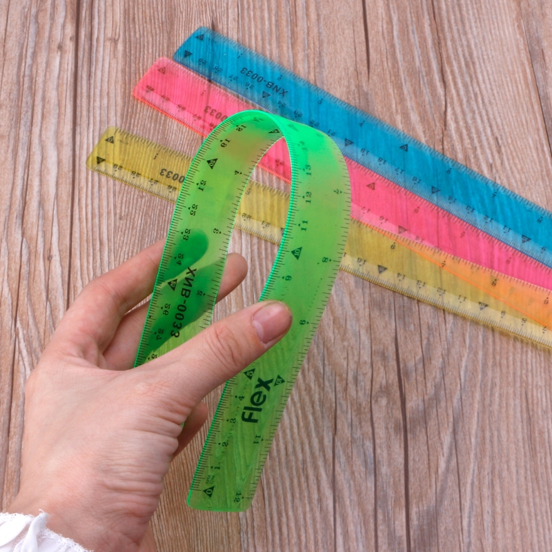 Soft 30cm Ruler Multicolour Flexible Creative Stationery Rule School Supply *dls*