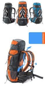 Image 5 - Yürüyüş sırt çantaları 70L büyük kapasiteli tırmanma Trekking seyahat sırt çantası Unisex Softback su geçirmez sırt çantası