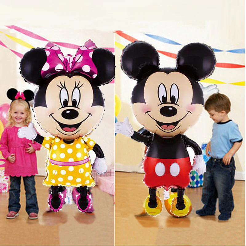 Large Minnie Mickey Mouse Foil Balloons 1st Birthday Party Decorations Kids Balloon Children S Toy Baby Shower Girl Boy Globos Ballons Accessories Aliexpress