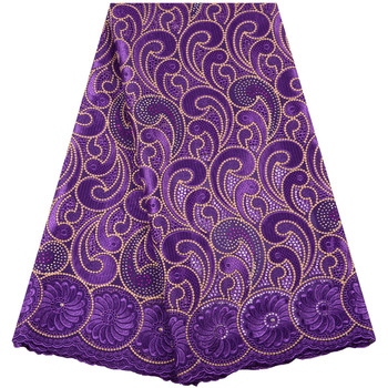 Best Selling 2019 New Purple African Lace Fabric Swiss Voile With Stones Swiss Cotton Lace High Quality For Wedding new and original bcm56024b0kpbg selling with good quality