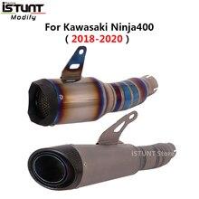 For Kawasaki Ninja 400 Z400 2018 - 2020 Motorcycle GP Exhaust Muffler Titanium Alloy Racing Exhaust escape Moto Mid Link Pipe