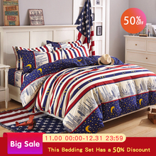 Bedding set luxury king size comfortable bed cover bedding printing lattice bed cover quilt cover sheets 4PCS comforter set