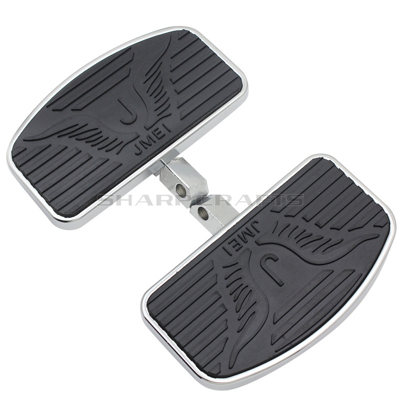 204MM Driver Front Rider Foot Pegs Floorboards Footboard Motorcycle For KAWASAKI Vulcan VN 800 400 Classic Custom Eagle Pattern