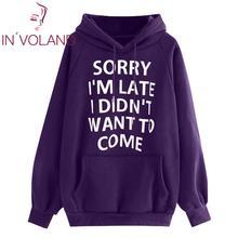 IN'VOLAND Women Sweatshirt Plus Size Long Sleeve Letters Pri
