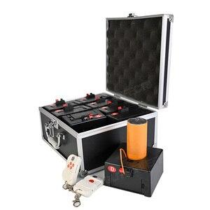 Image 4 - קר זיקוקי הצתה מכונת אלחוטי מרחוק פירוטכניקה 8 רמזים מקלט שלב ציוד מזרקת מערכת 1 מקרה 8 בסיס ירי