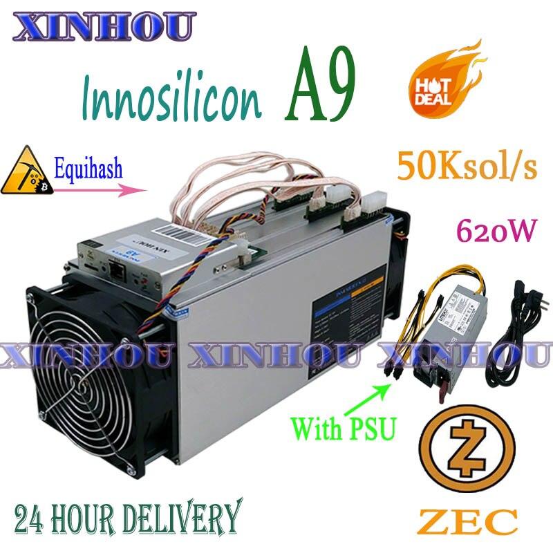 Verwendet Asic Miner Innosilicon A9 ZMaster 50k sol/s Mit 750w NETZTEIL Equihash Zcash ZEC ZCL BTG bergbau Besser Als Antminer Z9 Z9 mini
