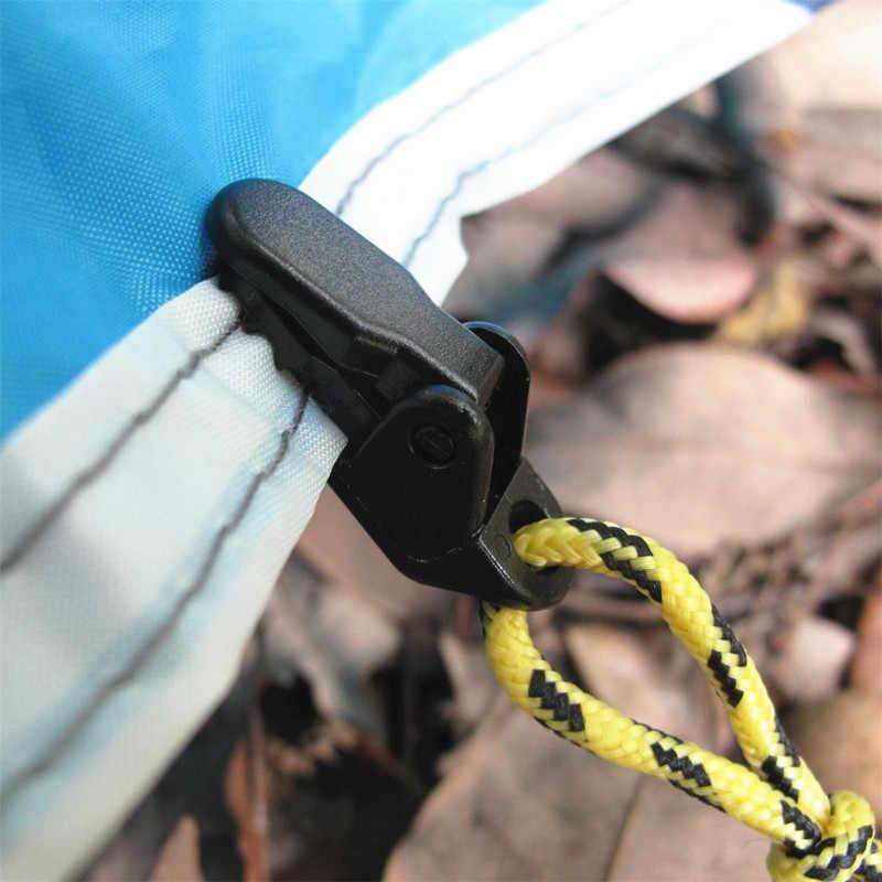 Klips do namiotu zacisk do zasłon Tarp klips do mocowania płótno kotwica chwytak szczęka karawana uchwyt dokręcić narzędzie Outdoor Survival Camp Hike Kit
