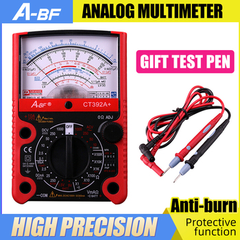 A-BF Pointer Type Multimeter Protective Function Analog Multimetro Precision Electrician Mechanical NCV Tester Anmeter Voltmeter a bf pointer type multimeter protective function analog multimeter high precision electrician mechanical multimeter anti burning