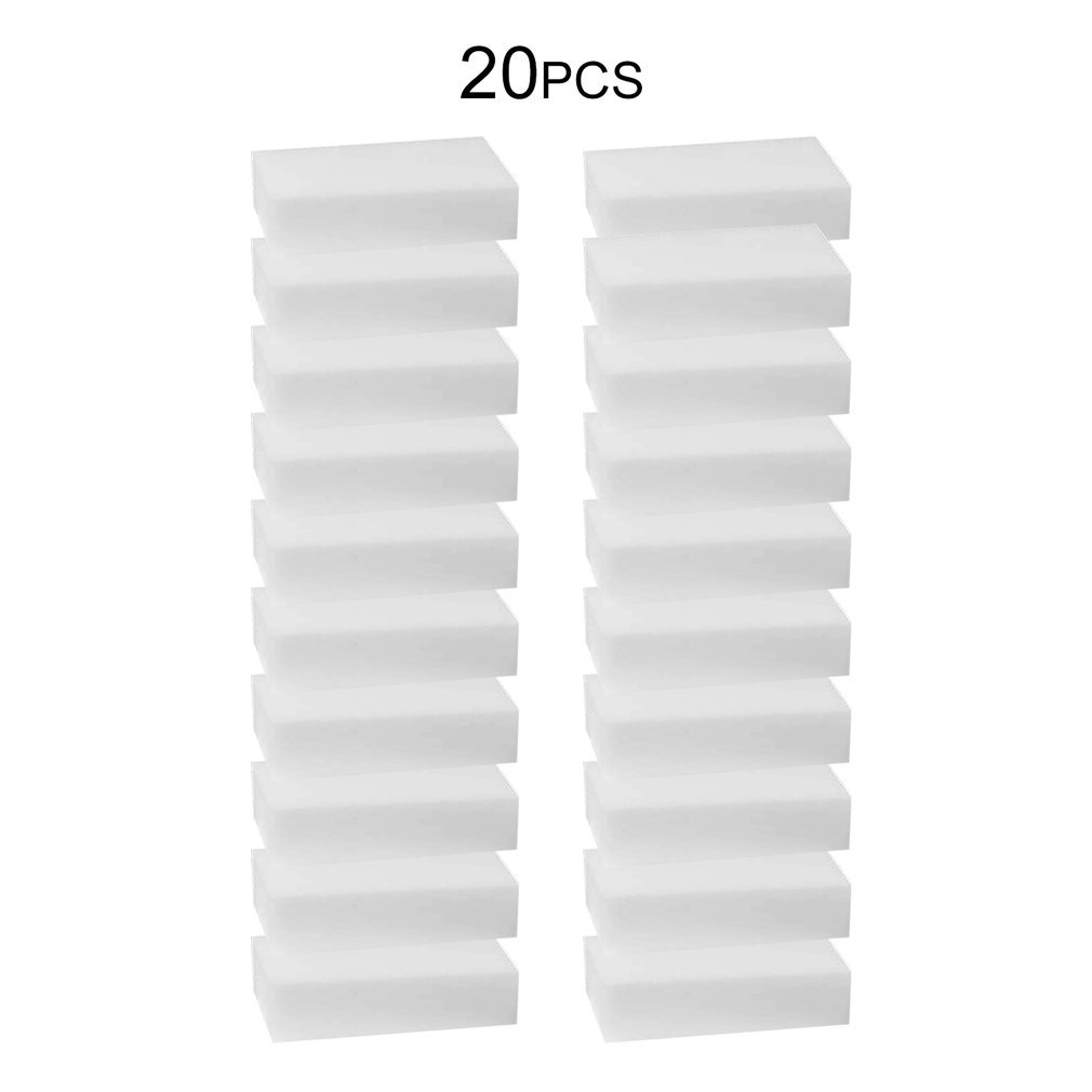 20 шт./лот белая волшебная губка, очиститель, ластик, многофункциональный очиститель, меламиновая губка для мытья кухни, ванной комнаты, 100x60x15...