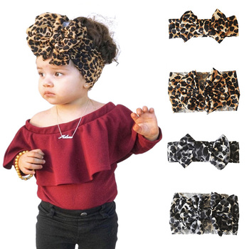 Leopard Infant Head Wrap Girls Headbands Baby Headband Bow for Girl Cotton Headbands For Toddler Flower Hair Band Accessories 5pcs head wrap baby headbands headwear girls bow knot hairband head band infant newborn toddlers gift tiara hair accessories