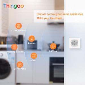 16A Tomacorriente Inteligente удаленного Управление Мощность розетка Smart Plug Wi Fi Eu с Alexa Google Home приложение Tuya Умные розетки      АлиЭкспресс