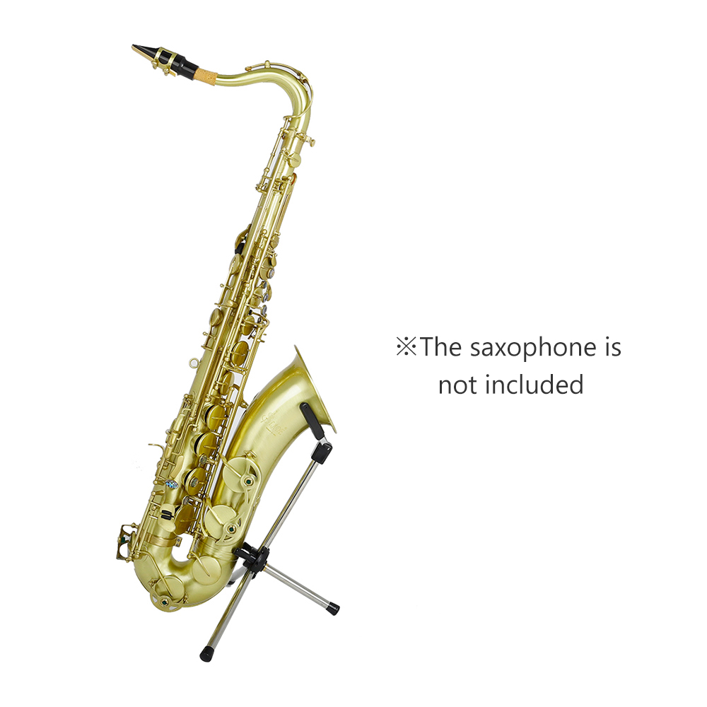 Foldable Tenor Saxophone Stand Sax Accessories Portable Sax Metal Floor Stand Holder With Carry Bag