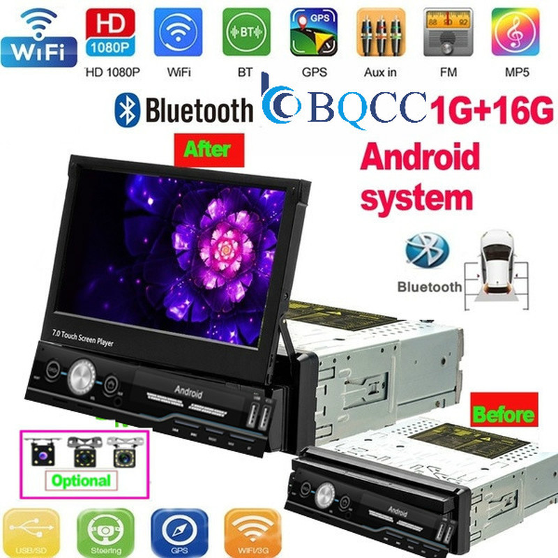 1 Din Android Car Radio Car Multimedia Player GPS Navigation Wifi Auto MP5 Bluetooth USB FM Audio Stereo Bluetooth USB FM