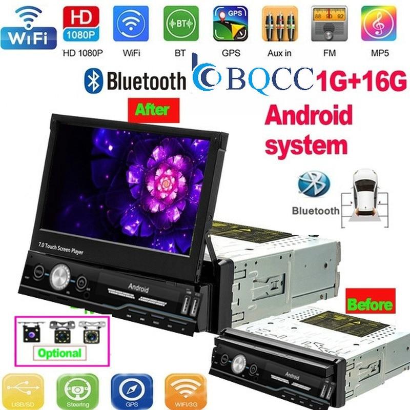 1 Din Android Car Radio Car Multimedia Player GPS Navigation Wifi Auto MP5 Bluetooth USB FM Audio stereo Bluetooth USB FM
