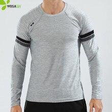 BARBOK Long Sleeve Men Running Shirts Quick Drying Anti-Sweat Breathable Elastic Jogging Wear Sports T Shirt Gym Sweatshirts