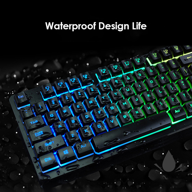 K13 Gaming keyboard Mouse Combo RGB Backlight Mechanical Felling keyboard Gamer kit Silent Gamer Mouse Set for PC Laptop 5