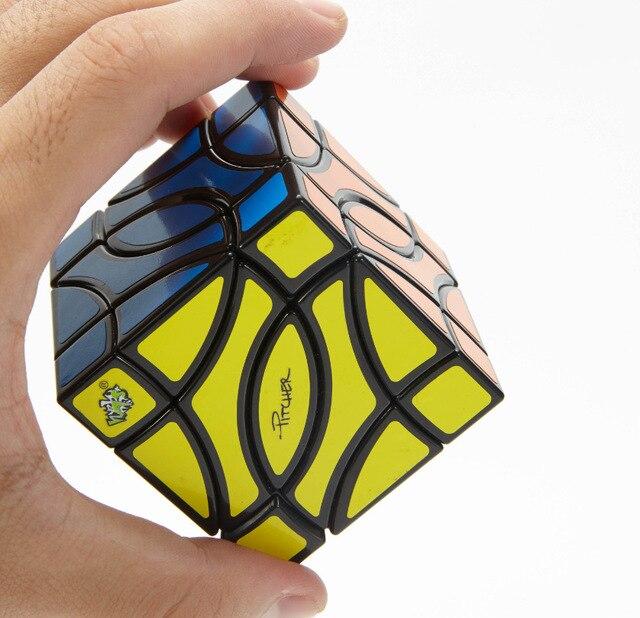 Lanlan Pitcher 4 Corner Black Cubo Magico Cube Educational Toy Gift Idea