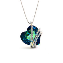 Fashion Jewelry Crystal Necklace True Love Eternal Creative Women Pendant