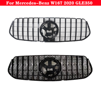 For Mercedes Benz GLE class W167 GLE350 2020 Car styling Middle grille ABS plastic GT Diamond front bumper grill Grille
