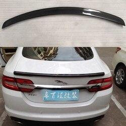 Saqueador De Carbono de Fibra De carbono Traseira Do Carro Tronco Spoiler Para Jaguar XF XF X250 X260 Saqueador De Carbono 2012 - 2015