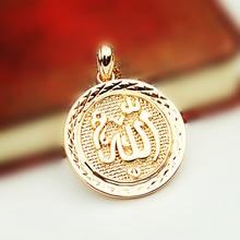 터키 이슬람 알라 펜던트 새로운 패션 펜던트는 585 골드 컬러 이슬람 보석 액세서리 여성과 남성 목걸이 펜던트 장미