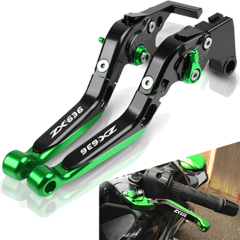 ZX636 Motorcycle Accessories Adjustable CNC Brakes Clutch Levers Handle For KAWASAKI ZX6R ZX-6R ZX 636 ZX-636 2019 2020 carbon brushes compatible fein msf 636 msh 636 [misc ]