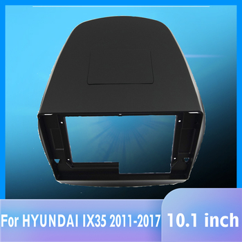 2 Din Car android Radio face plate Frame for HYUNDAI IX35 Tucson 2010-2016 Car DVD Player panel dash mount kit car products image