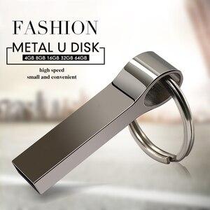 Топ качество USB флеш-накопитель 64 Гб металлический Флешка 32 ГБ 16 ГБ 8 ГБ 4 ГБ высокоскоростной USB флешка 2,0 Флешка 128 ГБ usb флешка