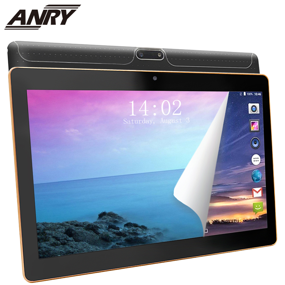 ANRY 102 10 Inch Tablets Android 7.0 8 Core 64GB Dual Camera Dual SIM Tablet PC 1280*800 WIFI OTG GPS Bluetooth Phone 4G The Tab