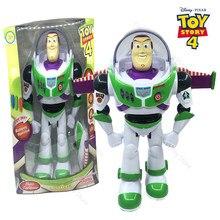 Disney genuine juguete brinquedo história 4 buzz lightyear música/luz com asas boneca figura de ação brinquedos para crianças presente aniversário a103