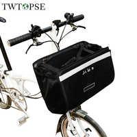 TWTOPSE 16L resistente al agua bicicleta bolsa Pannier para Brompton cesta bolsa gran capacidad reflectante ciclismo bicicleta accesorio