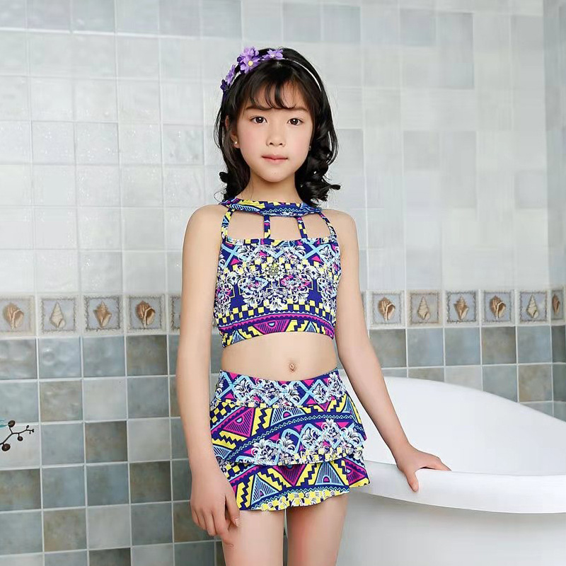 Girl'S Swimsuit Split Type-Baby Princess Dress-Pants Big Boy Tour Bathing Suit Swimwear CHILDREN'S Bikini