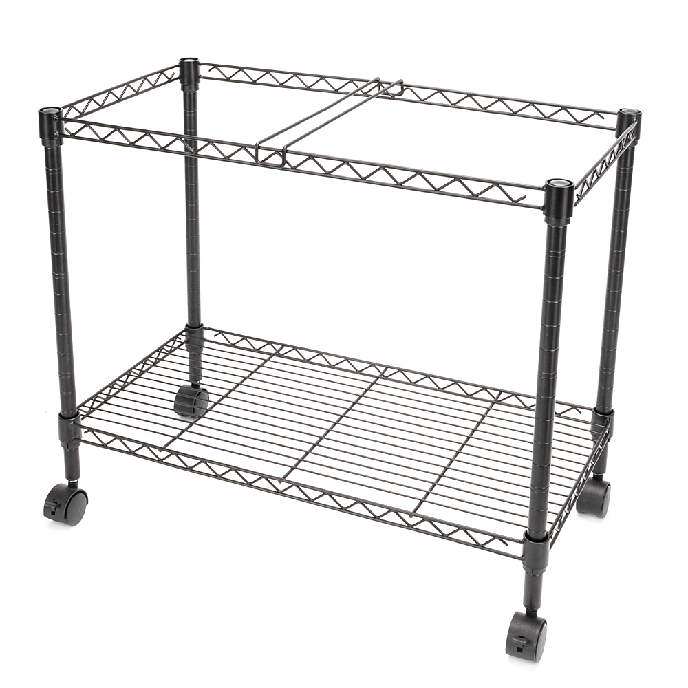 Portable Single Tier Metal Rolling Mobile File Cart for Classroom Office Living Room 600x320xH460MM