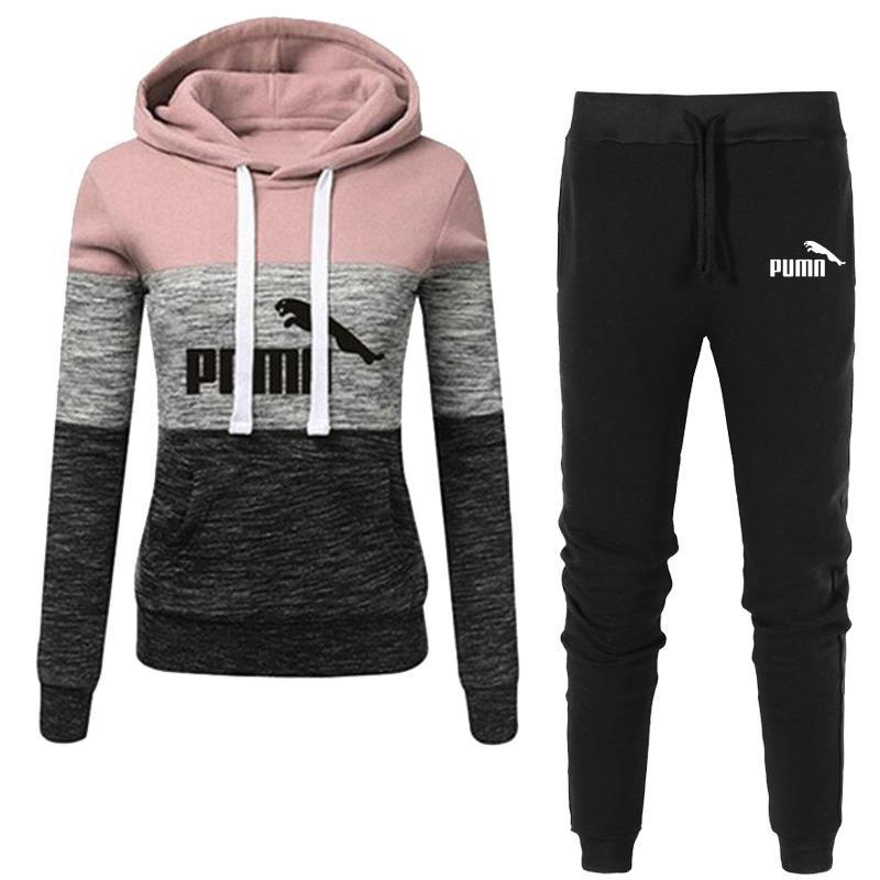 ThusFar Womens Velour Hooded Two Piece Outfits Jacket Sweatpants Bodycon Jogging Set Tracksuit Sportswear with Pockets
