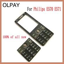 100% جديد الأصلي لشركة فيليبس E570 E571 CTE570 لوحة مفاتيح الهاتف المحمول لشركة فيليبس E570 E571 CTE570 الهاتف المحمول