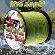 0.16mm-2.0mm braided fishing line hollowcore 16strands 500M for sea fishing 20-500LBS weaves resistant super power pe  tackle